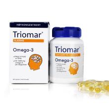Triomar 挪威进口深海鱼油胶囊营养补脑提高记忆力健脑改善增加增强记忆力DHA保健品 [80粒/瓶]