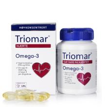 Triomar 挪威原装进口深海鱼油软胶囊欧米伽3鱼肝油omega-3中老年人保健品 [90粒/瓶]