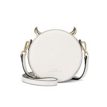 L'ALPINA 阿尔皮纳袋鼠 女士时尚百搭俏皮小圆包斜挎包 684031027[白色 15.7x8.5x16cm]