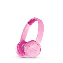 JBL JR300BT 头戴式无线蓝牙学生耳机 护耳麦克风耳麦 英语网课学习耳机带麦 低分贝儿童耳机 [粉色]