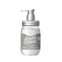 氨基研 AMINO MASON 日本进口升级氨基酸牛油果无硅油清爽型洗发水450ml 温和滋润 净发控油 GMJY10003[透明色]