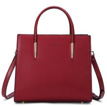L'ALPINA 阿尔皮纳袋鼠 新款女士时尚大容量撞色托特包 692011120[宝石红]