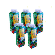 金色果园 俄罗斯进口 野生浆果汁 混合浆果果汁 5瓶组合装 [1L 5只]