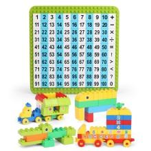 娃娃博士 儿童早教学习教育数字贴+大颗粒积木车 w504-1062[110片+108颗]