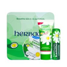Herbacin 【德国进口】德国小甘菊纪念礼盒-D [(修护唇膏4.8g +经典无香护手霜20ml+柔皙护手霜20ml )]