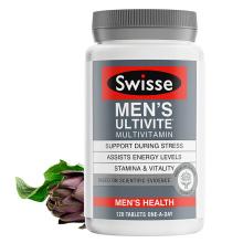Swisse 斯维诗 澳洲进口 女士/男士复合维生素片 多种B族减压抗疲劳 强健体质 120粒 [男士维生素]