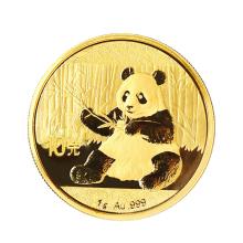 中国金币 2017年熊猫1克金币.999足金配绿盒 熊猫金银币国宝熊猫币 [1克金币 配绿盒]