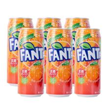 芬达 日本进口 橙味碳酸饮料 [500ml*6]