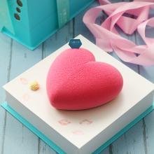 法蘭之吻 小粉红 创意草莓奶油儿童慕斯 水果心型生日蛋糕 仅限北京