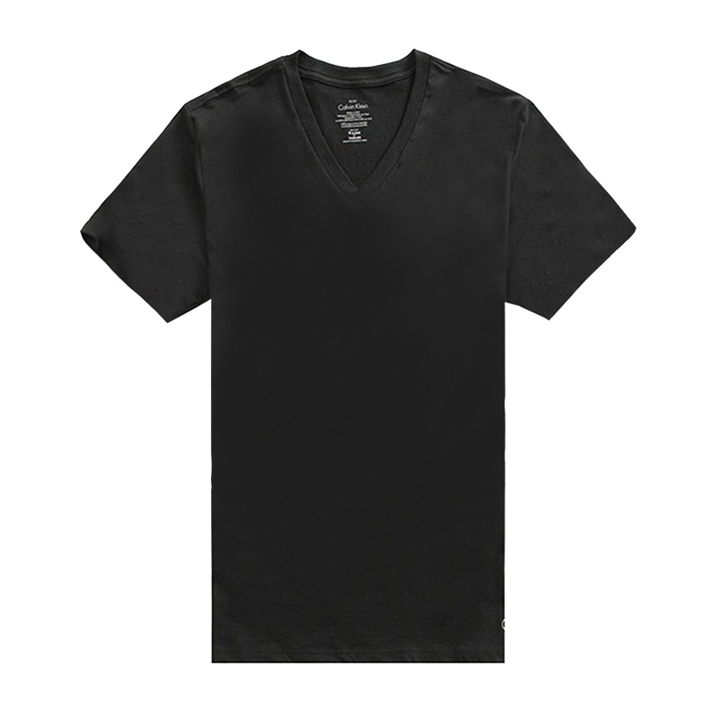 CK 卡尔文.克莱恩【香港直邮】棉男士V领T恤 M4065-001[黑色 XL]