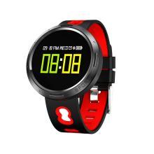系致XZX9 智能手环 手表心率血压健康男女计步器运动防水蓝牙手表睡眠监测 [红色]