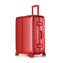 wrc 商务铝框拉杆箱W-J770 二款四色可选 [红色 20寸]