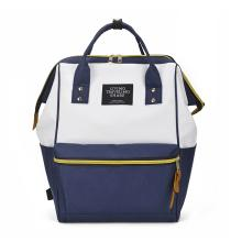 wrc 【限时抢】户外新款时尚双肩背包W—0022 两款选 [蓝白相间]