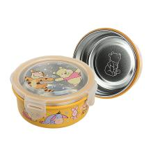 爱婴小铺 迪士尼系列维尼不锈钢圆形保鲜便当餐盒TPH-C10-010 [黄色]