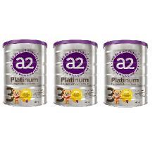 a2 Platinum 婴幼儿奶粉 3段 1-3周岁适用 自然亲和 贴近母乳(澳洲本土版直邮)(二库-2) [900g*3罐 3段]