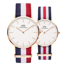 丹尼尔惠灵顿 DANIEL WELLINGTON dw手表男表40mm 女表36mm 情侣手表 DW00100030+DW00100002