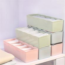 奥胜康 内衣收纳盒 五格塑料整理盒抽屉式袜子内裤收纳盒(3个装颜色随机)