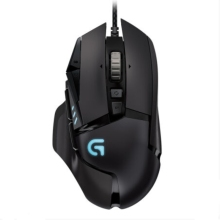 罗技/Logitech G502 RGB竞技多彩炫光 自适应有线游戏鼠标