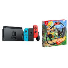 任天堂 Nintendo Switch 国行续航增强版主机&健身环大冒险 体感游戏 套装