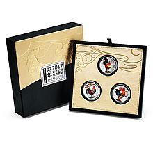 北京黄金 大吉大利鸡年生肖银币 投资收藏纪念币 澳大利亚皇家造币厂 联合三个国家发行 [3*1/2盎司]