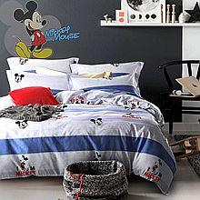 Disney 迪士尼 磨毛高密四件套系列馨悦米奇DSN17-TJ0105 [如图色]
